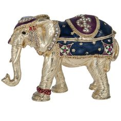India Jane Elephant jewelled box ($30) ❤ liked on Polyvore featuring home, home decor, home & furniture, elephant home decor and elephant home accessories