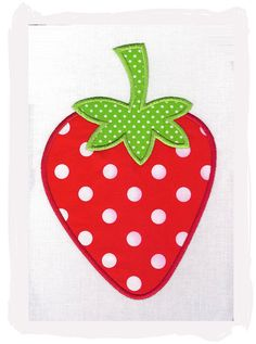 Strawberry Machine Embroidery Applique Design by pinkfrogcreations, $2.80