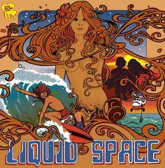 vintage surf poster liquid space