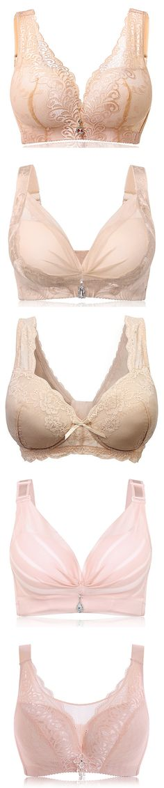 Wireless Breathable Cotton Gather Soft Bras