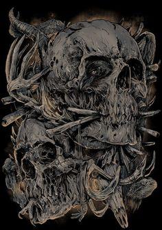 All About Art Tattoo Studio Rangiora. Quality work by Professional Artist. Skull Artwork, Metal Artwork, Skull Tattoos, Body Art Tattoos, Dark Fantasy Art, Dark Art, Arte Black, Heavy Metal Art, Rock Poster