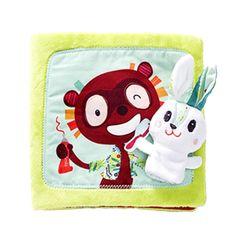 Livre petit lapin dentiste  Célestin le lapin, aide ses amis à se brosser les dents. Les quenottes du castor, les crocs du croco, la mâchoire du lion… seront tous inspectés par notre apprenti dentiste. Toi aussi tu as une première dent à brosser ? Glisse ta photo dans le livre et apprends ainsi les bons gestes pour une dentition saine. Ce livre plein de découvertes à toucher s'accompagne d'une marionnette à doigt Célestin.
