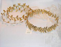 SET Bridal Wreath Halo Headpiece and 3 Flower girl Halo Bands Wedding Gold  Leafs Headband Wedding Crown on Etsy, $100.00