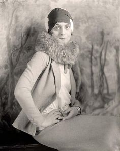 Woman With Fur Stole, 1920s