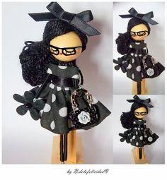 Com Fairy Crafts, Doll Crafts, Wooden Spool Crafts, Clothespin Dolls, Felt Brooch, Wooden Dolls, Fairy Dolls, Diy Arts And Crafts, Doll Face