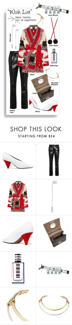 """""""#PolyPresents: Wish List"""" by statuslusso ❤ liked on Polyvore featuring Neous, Helmut Lang, Alanui, Balenciaga, Fendi, Laura Mercier, Alexander McQueen, Sonia Rykiel, contestentry and polyPresents"""