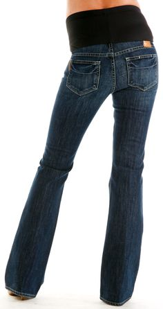 Laurel Canyon Maternity Jeans by Paige Premium Denim - Cottonwood Creek Wash | Maternity Jeans  BEST selection of Maternity clothes anywhere!   FREE Gift with purchase! http://www.duematernity.com/paprdeovfama.html