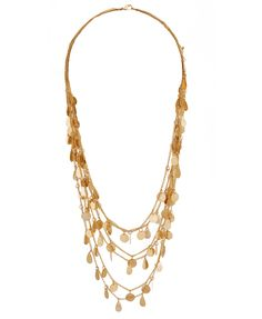 $10.80 Paillette Layered Chain Necklace   FOREVER21