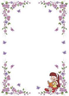 Marco de hojas decoradas imagui plantillas men - Hojas decoradas para ninas ...