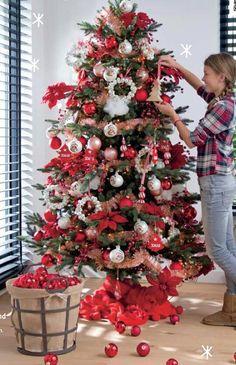 Rode kerstboom