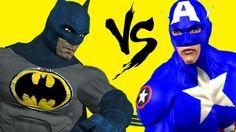SuperHeroes Fights Animated Short Movie | Batman Vs Captain America 3D C...