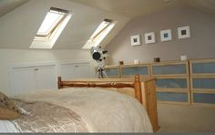 Loft conversion-1950's semi-detached Velux existing eaves (only) bedroom with hipped roof.  Gives an idea of what the space can offer without changing the roofline.  (This one is accessed with built-in stair access via the box room on the floor below.)  From http://www.rightmove.co.uk/property-for-sale/property-38943389.html