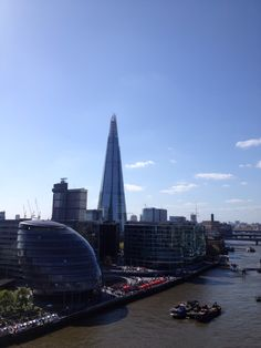 The Shard and City Hall on the Southbank. Taken for the Tower Bridge walkway on a sunny day in April.