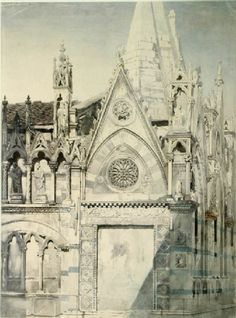 Drawing from a Photograph of Part of Santa Maria della Spina, Pisa John Ruskin, 1845