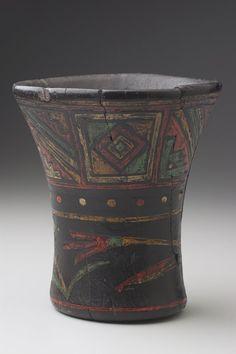 .Qero (kero)  Artist Unknown (Inka (Inca)) (Peru, South America), 1300-1550