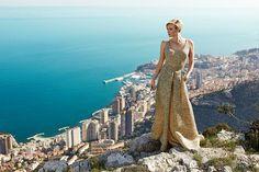 Princess Charlene of Monaco. Portrait by Lauren Dukoff. Dress by Akris