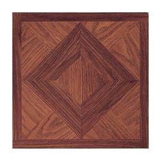 Home Dynamix Madison 12'' x 12'' Vinyl Woodtone Tiles (Set of 9)