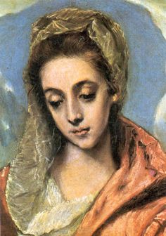 "El Greco - ""Holy Family, detail of Madonna"" (So lovely, so real) Spanish Painters, Spanish Artists, Madonna, Creta, Holy Family, Classical Art, Sacred Art, Renaissance Art, Religious Art"