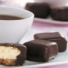 Chocolate-Covered Cheesecake Bites — Punchfork
