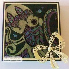 6 inch box. Colourista Dark premium pencil pad - Under the sea. Spectrum Noir Metallic pencils - yellow, blue, purple, pink and rose gold. Designed by Lesley McCloskey. #spectrumnoir #crafterscompanion #spectrumnoircolourista