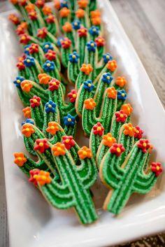 Cactus themed wedding cookies Southwest Bride, Arizona Bride Saguaro Cookie