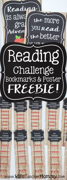Grab these FREE Editable reading challenge bookmarks for your classroom! Perfect for getting your students to read a variety of genres. Great for back to school! A reading challenge poster is included as well. http://www.wifeteachermommy.com/2016/07/the-secret-to-successful-reading.html