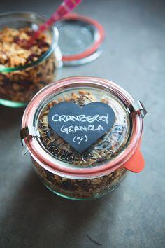 Cranberry Almond Granola | Gluten-free