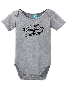 Im The Honeymoon Souvenir Onesie Funny Bodysuit Baby Romper Gray 18-24 Month