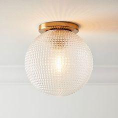 Edie Prismatic Flushmount Hallway Lighting, Bedroom Lighting, Home Lighting, Hallway Ceiling Lights, Ceiling Lighting, Porch Lighting, Kitchen Lighting, West Elm, Bedroom Light Fixtures