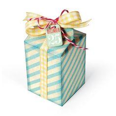 thinlits die -box milk carton 658823 - 22,50 EUR - MarcaSizzix DimensioniDimensioni Fustellato / Design Dimensions:  4,76 x 9,2 cm x 4,76  cmdimensioni scatola: 4,68 x 9,06 x 4,68 cm Tema: scatola, box - Utilissima fustella per ritagliare e assemblare una scatola. Come le altre Thinlits ritaglia c...