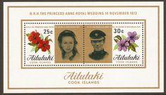 Aitutaki 1973 Royal Wedding Sheet. SGMS84.