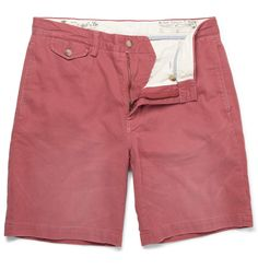 Polo Ralph Lauren Washed Cotton-Twill Shorts.
