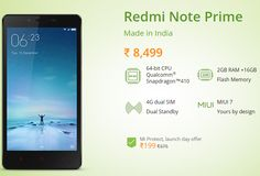 Xiaomi introduces Redmi Note Prime at Rs 8,499 in India « Times Of Pavan