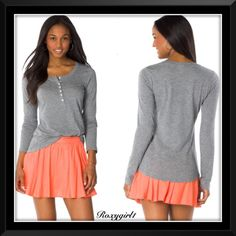 Victoria's Secret Gray Long Sleeve Henley Victoria's Secret Gray Long Sleeve 7 Button Henley ~ Worn Twice  No Issues  Super Soft Great Addition to your wardrobe  ❌NO TRADE OR PP❌ Victoria's Secret Tops Tees - Long Sleeve