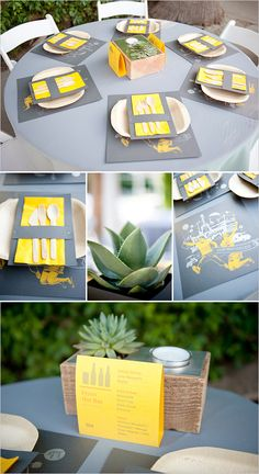 Yellow and Gray Palm Springs Wedding