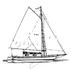 Fenwick Williams Catboat More Pictures JPG - Michael Storer Boat Design | Catboat | Pinterest ...