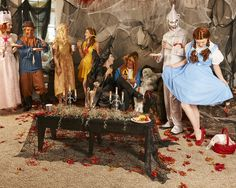 The Orange List: Top Halloween Party Themes  7. Scary Tales For this theme, we decided to turn our favorite fairy tales into scary tales! The Wizard of Oz and Disney Princess costumes are great fits.