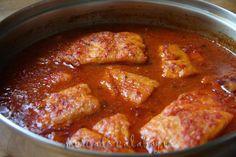 Guiso de salmón en salsa de tomate. Receta - Mercado Calabajío