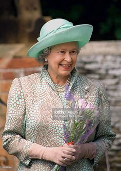 The Queen At Sandringham To Celebrate Her Mother's 96th Birthday. (Photo by Tim Graham/Getty Images)