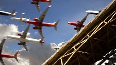 Five Hours of Plane Landings in 30 Seconds at San Diego International Airport