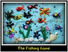 Itsy Bitsy - The Blog place: The Fishing Game - Guest post by Shruti (ArtsyCraftsyMom) .... pipe cleaner fish caught by a magnet