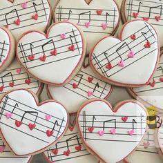 Galletitas musicales en forma de corazón