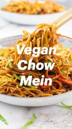Vegan Noodles Recipes, Veggie Recipes Healthy, Vegetarian Recipes, Cooking Recipes, Noodle Recipes, Easy Chicken Dinner Recipes, Easy Pasta Recipes, Vegan Dinner Recipes, Vegan Dinners