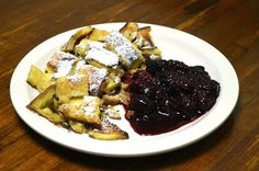 Try the #Kaiserschmarrn of #Austrian tradition. That is a quality pancake fried in real butter, and torn into strips, served with a berry sauce.  No, we don't even know what pancake mix would be - we compose the batter on order, using real eggs, and.....
