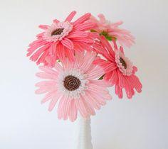 French Beaded Gerbera Daisy #handmade by LaurenHCreations