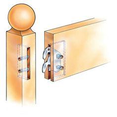 Bed Rail Hooks  sc 1 st  Pinterest & Woodtek 164222 Hardware Furniture Bed Hardware 6\