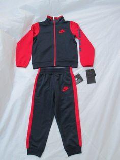eff2869d3f7a70 Nike Boys Suit Tracksuit 2 Piece Set Color Red Blue New Size