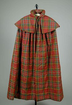Cape, ca. 1820, wool and silk, American