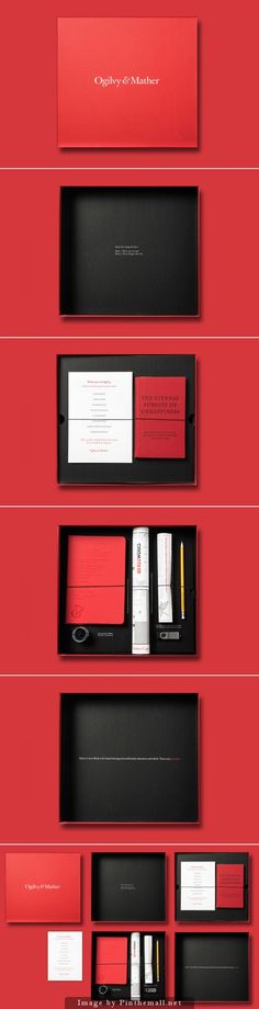 Ogilvy & Mather Induction Box is a package given to all new employees... (from dieline)