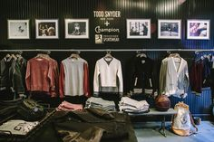 Todd Snyder + Champion store in NYC. Store Design by Acre  Interior Design by www.acrecreative.com Leanne Ford and Brad Shaffer